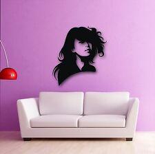 Wall Stickers Vinyl Decal Sexy Oriental Girl Hair Beauty Salon (ig429)