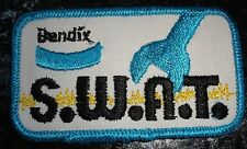 Vintage Bendix SWAT Label Embroidered Fabric Patch In Blue & White Colors - New