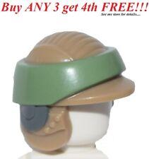 ☀️Lego Minifig Hat Helmet SW Rebel Commando Sand Green Band Pattern Starwars