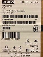 SIEMENS 6EP1436-3BA00 POWER SUPPLY SWITCH MODE 24VDC SITOP MODULAR NEW