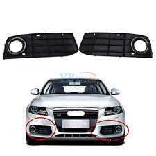 Front Bumper Grill Fog Light Grille Cover For Audi A4 B8 2008 2009 2010 2011 ES
