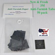 3M Anti-Tarnish Paper Tabs 1 X 1 inch ( 50 New Fresh Strips )