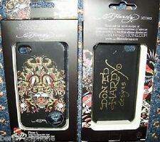 "Ed HARDY ""Tiger Serpent Skull"" Faceplate Case Cover Pouch iPhone 4 4s"