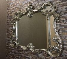 TOP MODERNER Wandspiegel 129x100 cm Antik-Silber  großer Spiegel prachtvoll