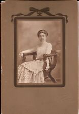 Antique Beautiful Mexican Woman Elegant Victorian Cabinet Card Photo ID'