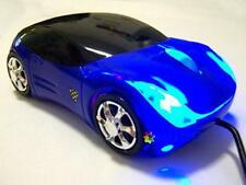 Blue Wired Car Shape USB 3D 800 DPI Optical Mouse Mice For PC/Laptop UP