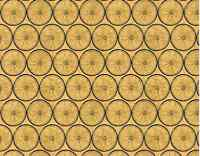 Wilmington Prints A Ticket In Hand Wheel Gold 100% cotton Fabric by the yard 36""