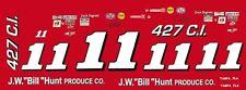 #11 Jack Ingram J.W. Bill Hunt Produce 1/24th - 1/25th Scale Waterslide Decals