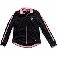 LRL Black Pink Zip Athleisure Jacket M Lauren Ralph Lauren Active Wear Casual