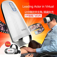 4D Automatic Synchronous Movement VR glasses Male Masturbators Stroker For Man
