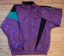 Adidas 80s/90s Vintage Trefoil Firebird Purple Aqua Windbreaker Shell Jacket XL
