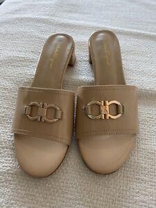 salvatore ferragamo Womens Sandals Size 38 Beige Leather