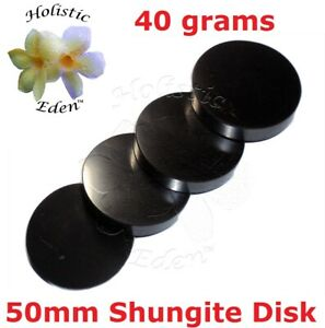 Shungite Disk, Personal EMF Protection, Water Purifier Glass Coaster Phone Stand