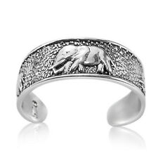 Midi Stackable Elephant Elephants 925 Sterling Silver Ring for Toe Little Finger