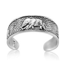 925 Sterling Silver Ring for Toe Little Finger Midi Stackable Elephant Elephants