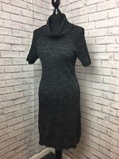 Toast Charchol Jumper Dress Size 8 Wool & Linen Mix Womens Cowl Neck Cozy