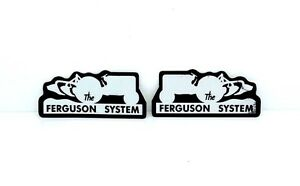 THE FERGUSON SYSTEM DECALS FOR MASSEY FERGUSON 35 65 135 TRACTORS. HIGH QUALITY