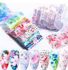 10 Pcs Flower Nail Art Transfer Foil Sticker Transfer Manicure DIY