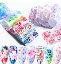 10 Pcs Flower Nail Art Transfer Foil Sticker Transfer Manicure DIY
