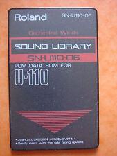 """Roland 90' PCM ROM SN U110 06 """"Orchestral Winds """" DATA U 110 220 U20 D70 CM MV"""