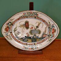 "18th Century Garofano ""Ferniani"" Polychrome Faience Platter"