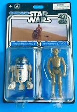 STAR WARS 40TH R2 D2 & C3PO DROID FACTORY DISNEY PARKS EXCLUSIVE