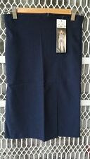 Woman dark navy blue office uniform stretch skirts size 8,10,12,14,16,18