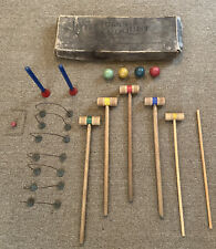 Antique Vintage Children's Toy Little Folks Croquet set for Lawn or Parlor