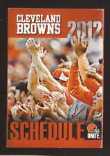Cleveland Browns--2012 Pocket Schedule--Cleveland Clinic
