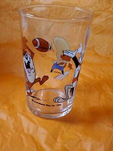 Warner Bros. Character Glass Football, 1990 Bugs Bunny, Taz, Yosemite Sam (d)