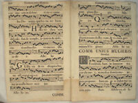 MUSIK Noten NEUMEN RIESEN Doppelblatt 1690 Mittelalter Lieder CHORAL Chor Gesang