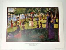 "Georges Seurat "" A Sunday On La Grande Jatte"" 1987 Limited Edition Print 11x14"
