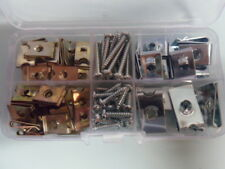 100no Speed Fasteners/Spire Nut Assortment 6g, 8g, 10g  & 12g C/W Self Tappers.