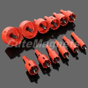 16mm-53mm Hole Saw Holesaw Drill Tooth Kit Bit Cutter Tool For Metal Wood Alloy