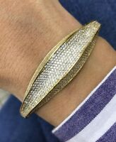 Turkish Handmade Jewelry Sterling Silver 925 Zircon Bracelet Bangle Cuff