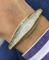 Turkish Handmade Jewelry Sterling Silver 925 Zircon Bracelet Bangle Cuff