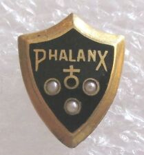 Vintage YMCA Phalanx Fraternity Badge Pin