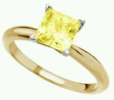 SOLITAIRE ENGAGEMENT 3/4 CARAT BRILLIANT PRINCESS CUT RING SOLID 14K WHITE GOLD