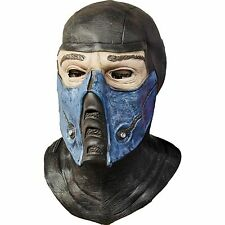 Deluxe Adults Subzero Mortal Kombat Fancy Dress Accessory Overhead Latex Mask