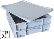 2 x kleine Pizzateigbehälter inkl. 1 x Deckel,Pizzaballenbox 400x300x70mm NEU