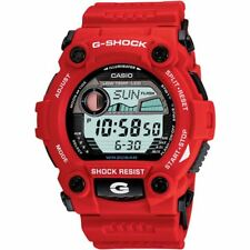 Red Casio G-Shock Mens World Time Tide G-Rescue Resin G-7900A-4ER Watch New