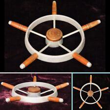 Vintage Ship Boat Yacht 5 Spoke Steering Wheel Wooden & Aluminium