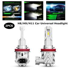 2PCS Car H8 H9 H11 6000K LED Headlight Bulb Lamp Light Waterproof Universal Part