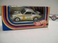 Porsche 911 turbo Racing #5, Silber, 1979, HOT WHEELS Mattel 1:43, OVP