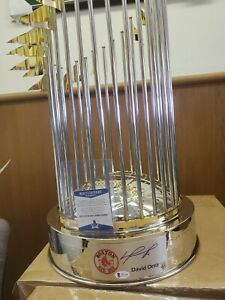 DAVID ORTIZ AUTOGRAPHED 2013 BOSTON RED SOX FULL SIZE WORLD SERIES TROPHY