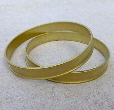 bracelet, bangle, brass round channel bracelet 65mm – pack of 2