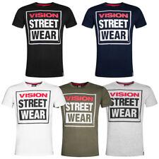 Vision Street Wear Herren Crew T-Shirt CM0245 S M L XL XXL Streetwear Top neu