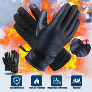 USB Heated Gloves Winter Hand Warm Touch Screen Rechargeable Heating Waterproof