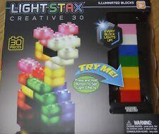 Light Stax Creative 30 Illuminated Blocks Construction Building Toy Light Up