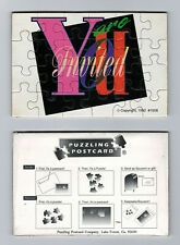 New You Are Invited Puzzle Postcards Set of 12 Cards Post Cards